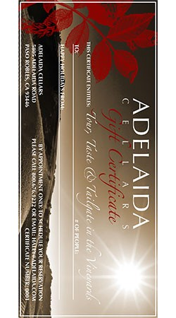 Adelaida Gift Tour, Taste and Tailgate for Two